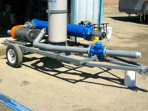 25hp variable speed pump and automatic filter on a trailer for Jacob's Farm
